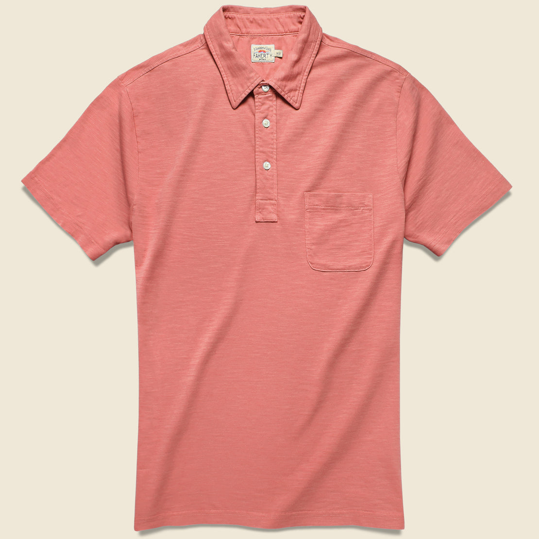 Faherty Garment Dyed Polo - New Red