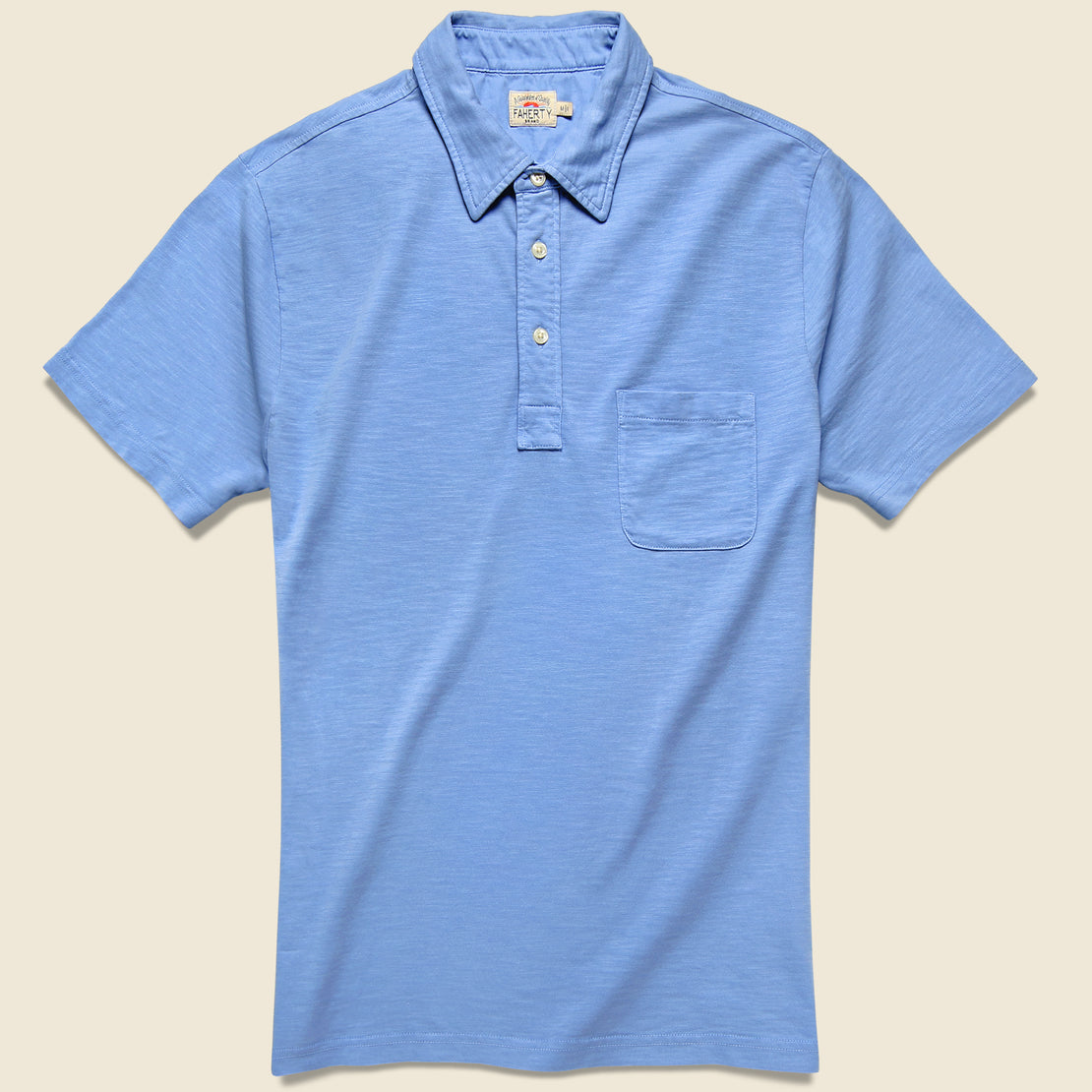 Faherty Garment Dyed Polo - Azure