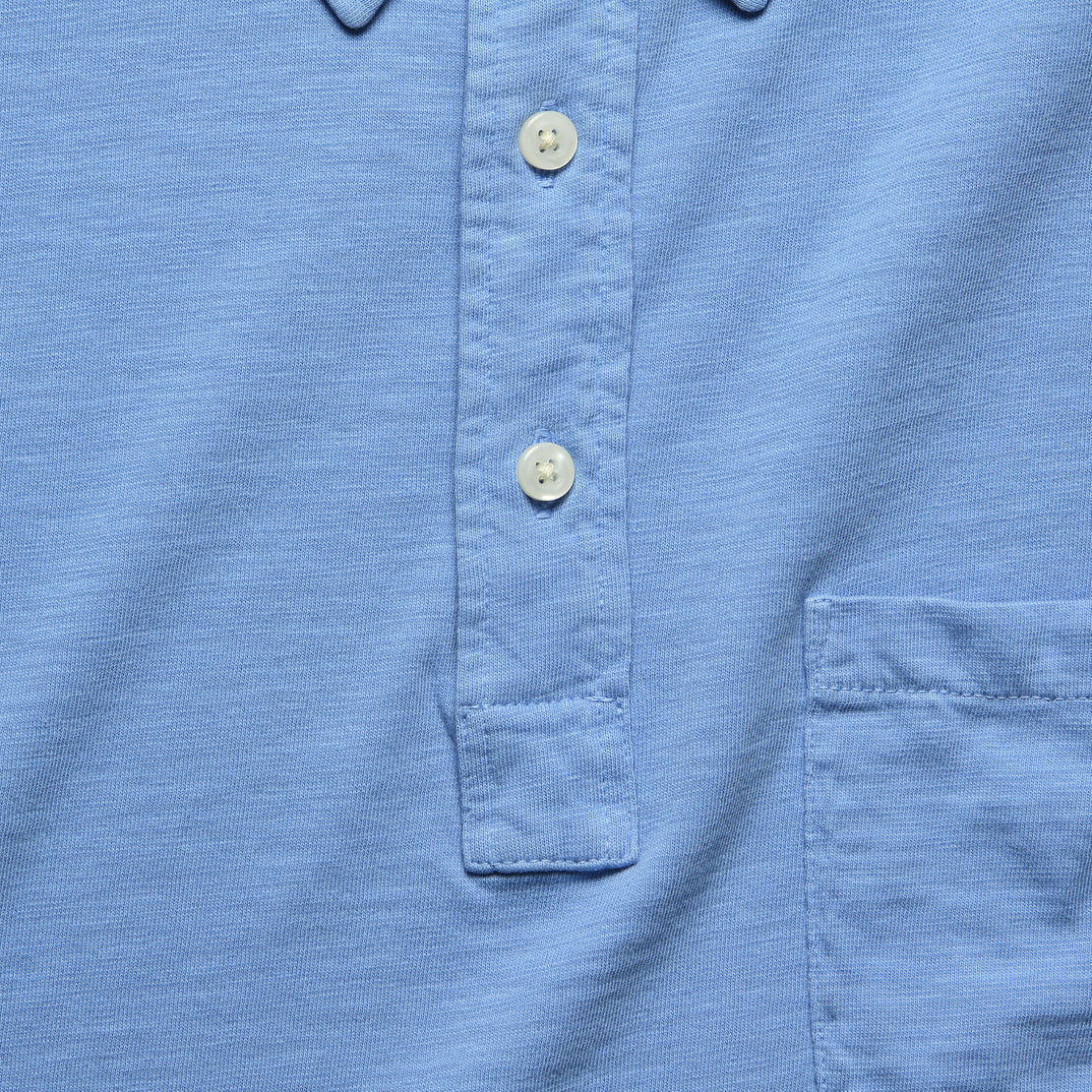 Garment Dyed Polo - Azure