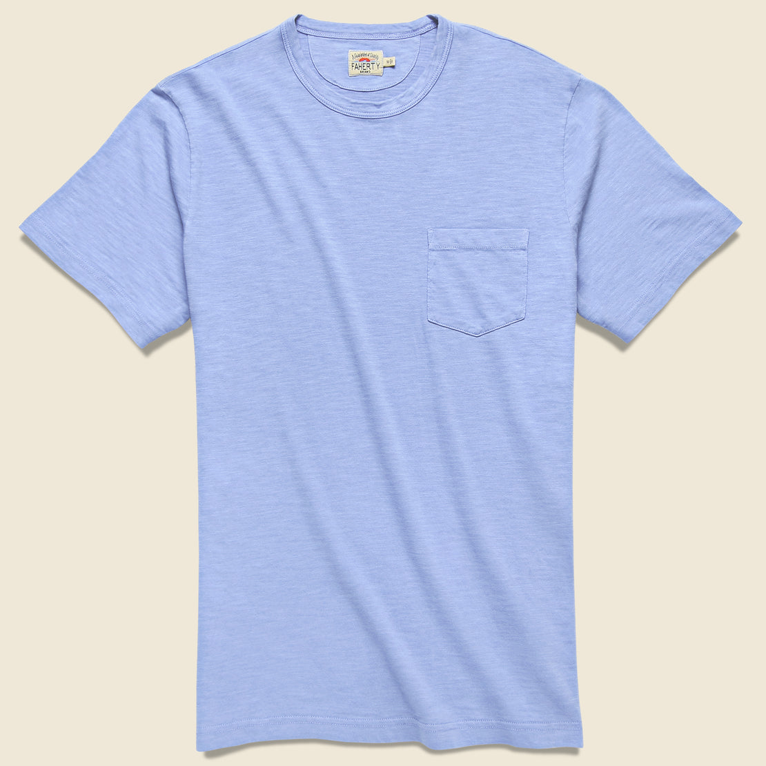 Faherty Garment Dyed Pocket Tee - Lilac
