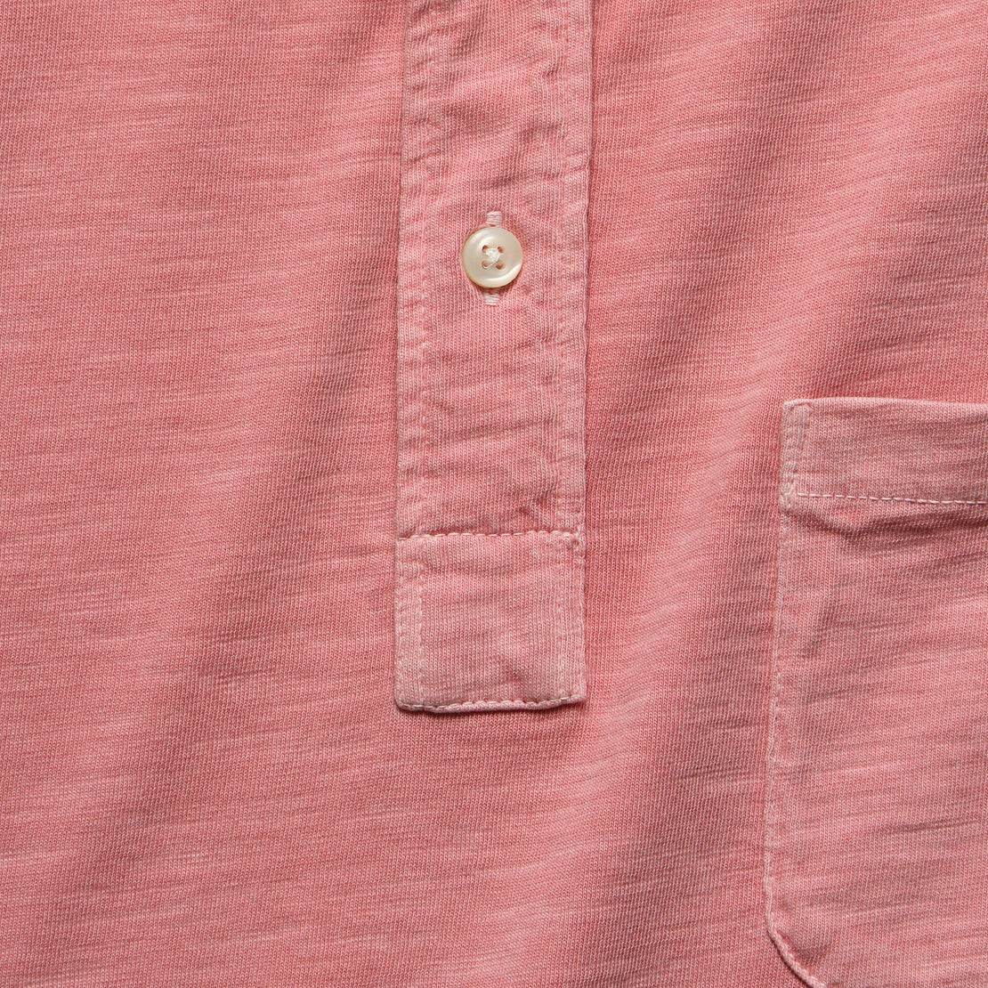 Garment Dyed Polo Shirt - Rose