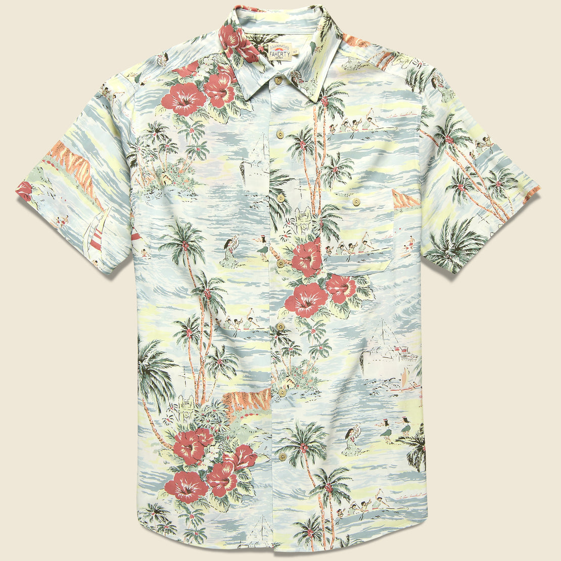 Faherty Rayon Hawaiian Shirt - Aloha Bliss