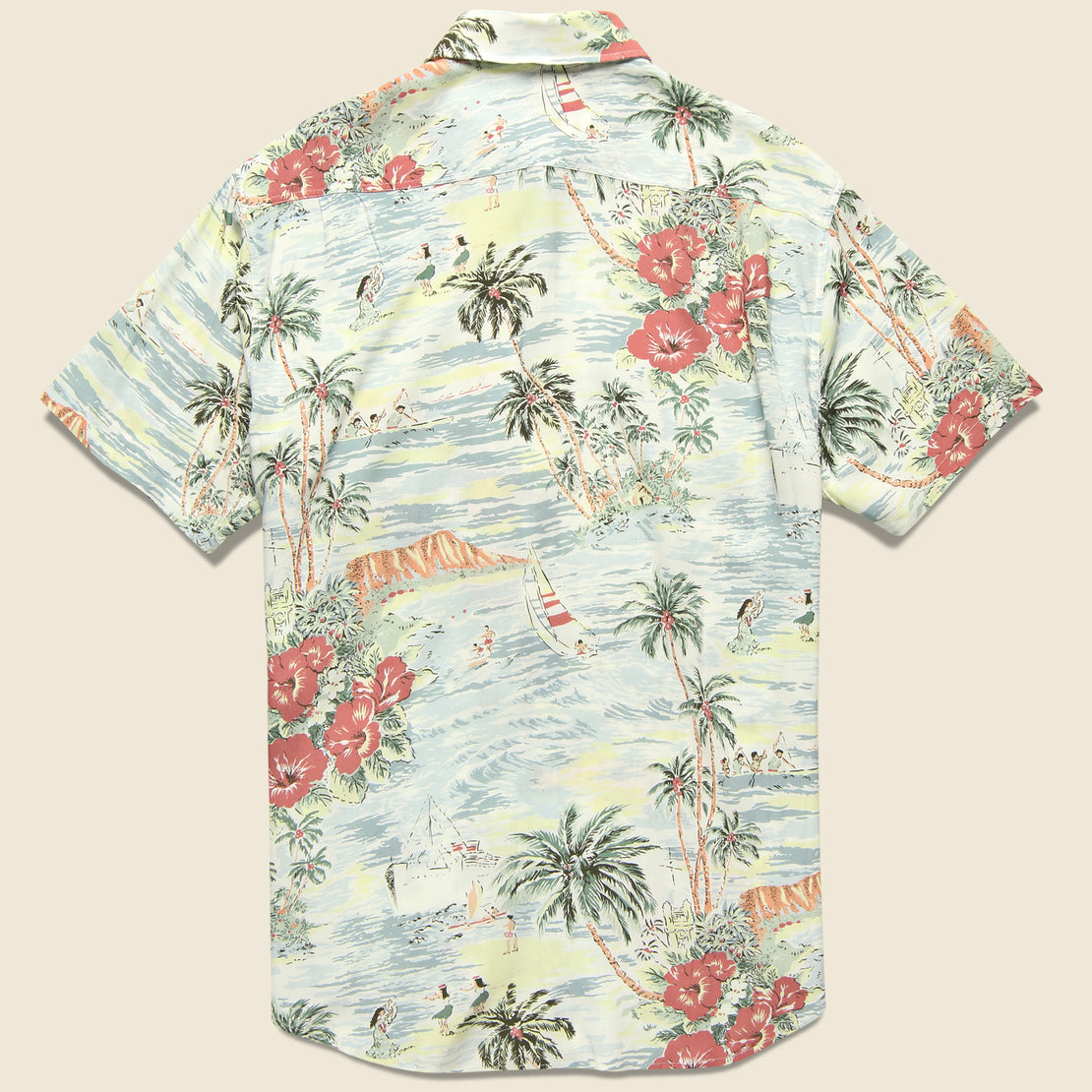 Rayon Hawaiian Shirt - Aloha Bliss