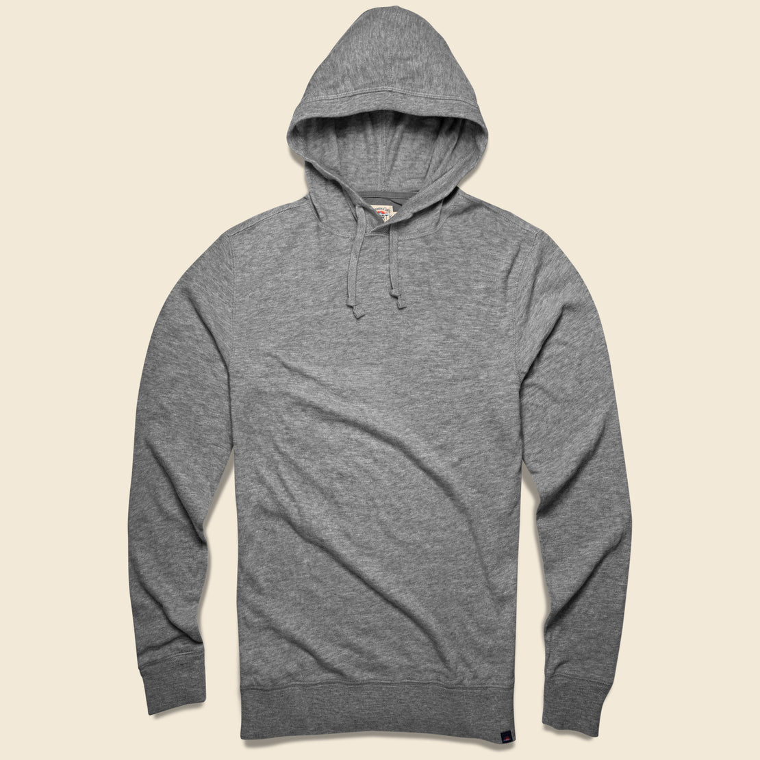Faherty Slub Popover Hoodie - Heather Grey