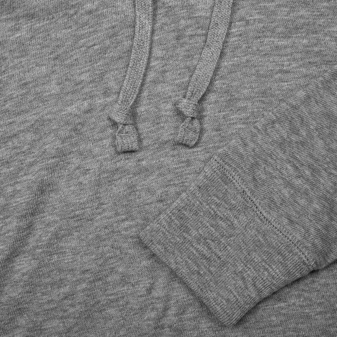 Slub Popover Hoodie - Heather Grey