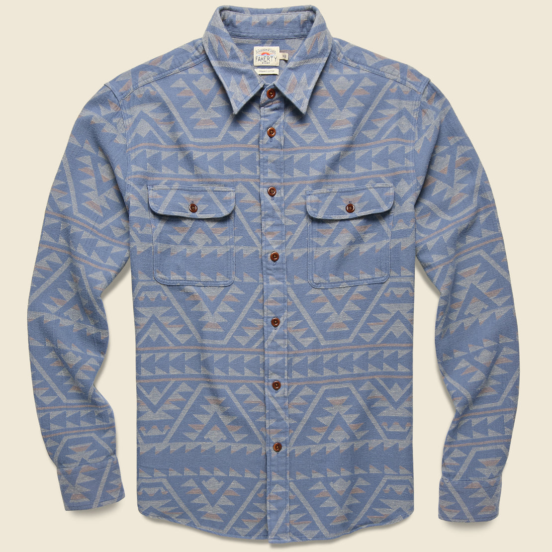 Faherty Canyon Overshirt - Mesa Beach