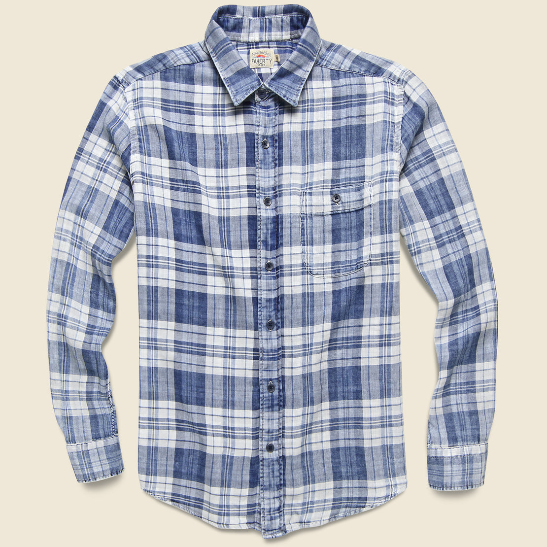 Faherty Indigo Seaview Shirt - Nautilus Plaid