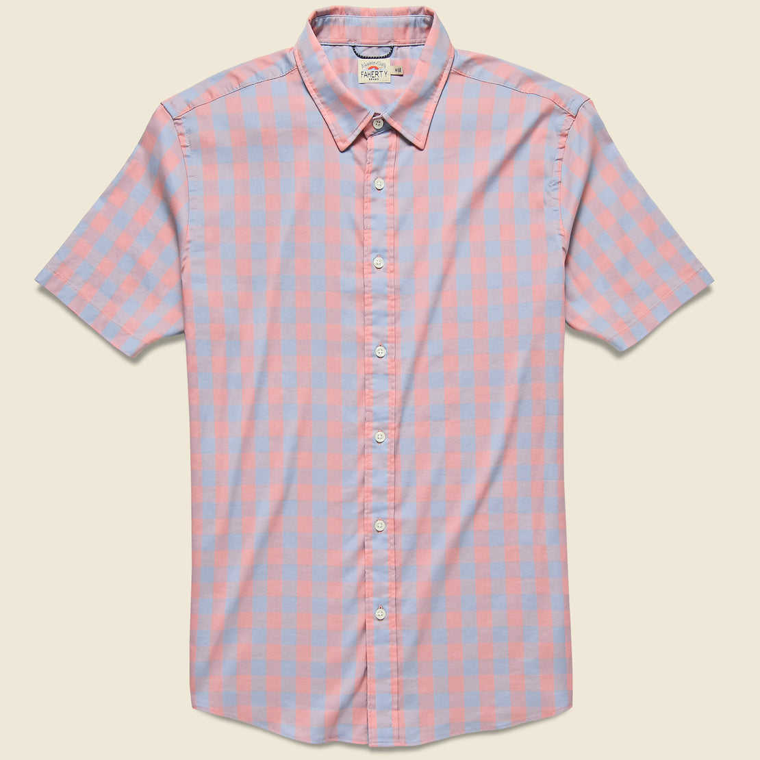 Faherty Movement Shirt - Blue/Rose Check
