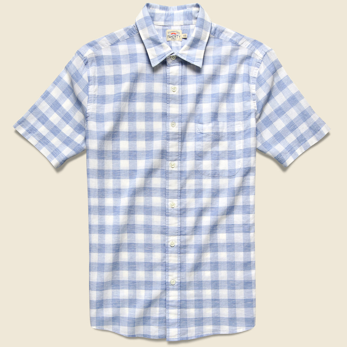 Faherty Cloud Blend Shirt - Blue Riptide