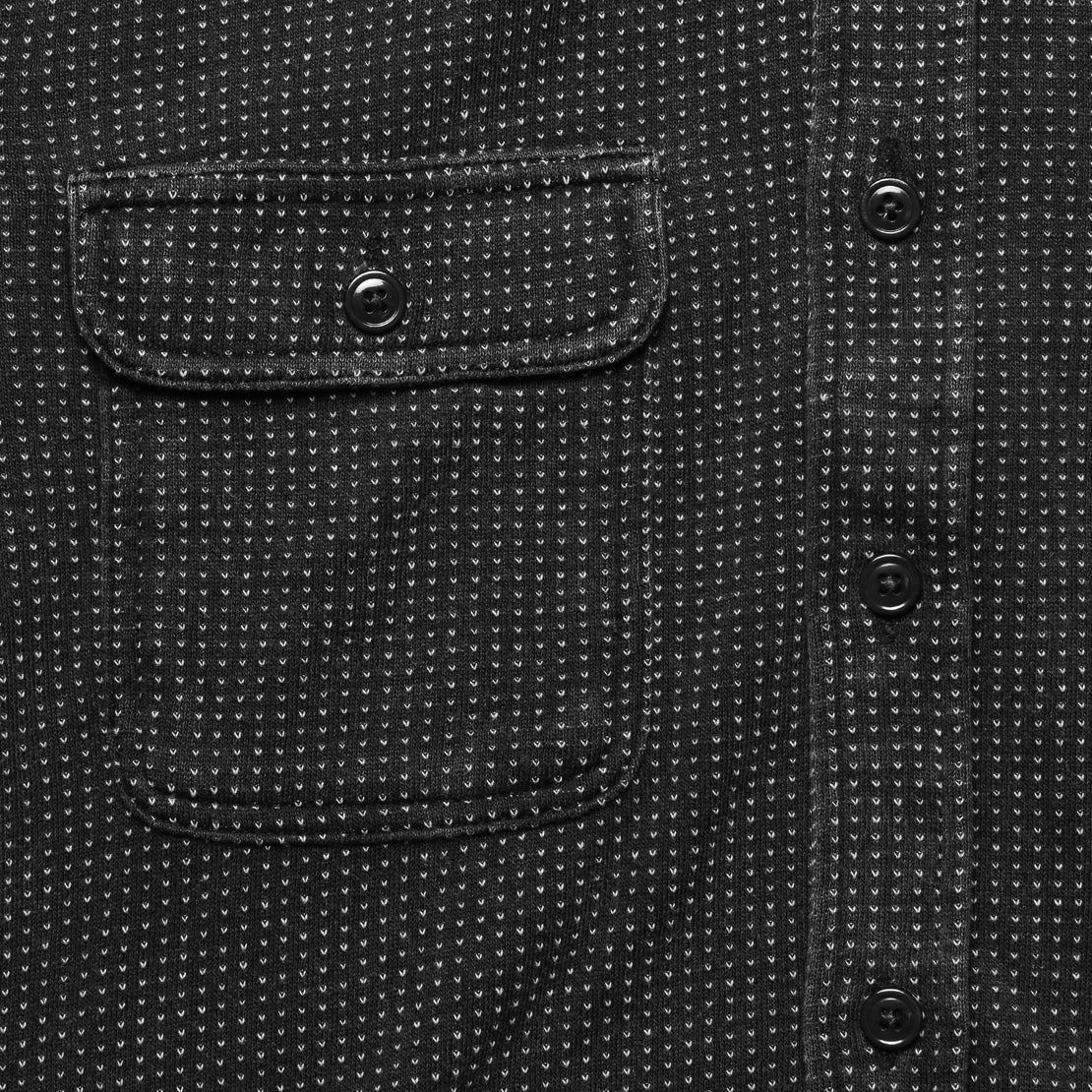 18 Year Wash Knit Dobby Workshirt - Black Indigo
