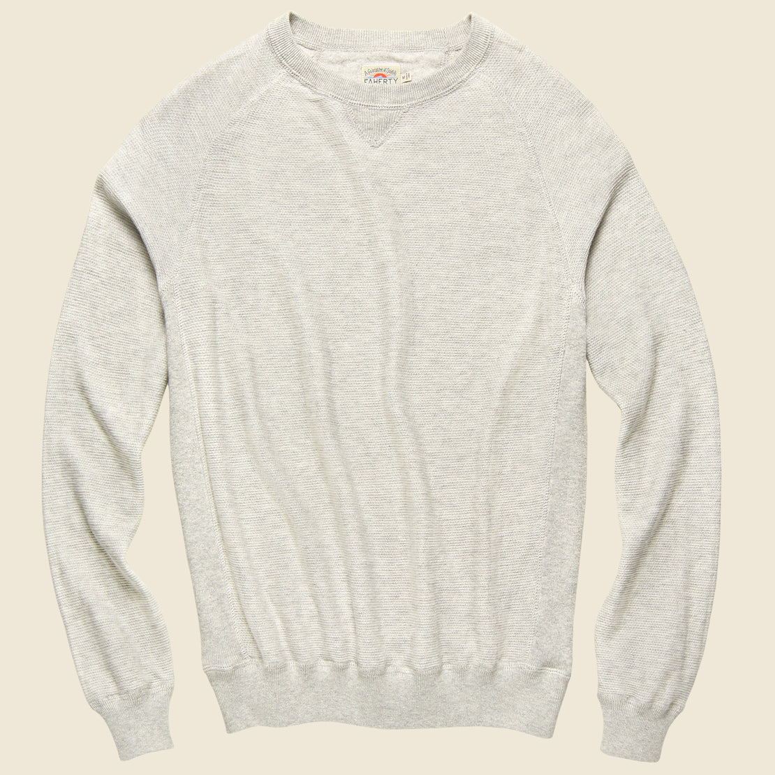 Faherty Coastline Crewneck - Heather Grey