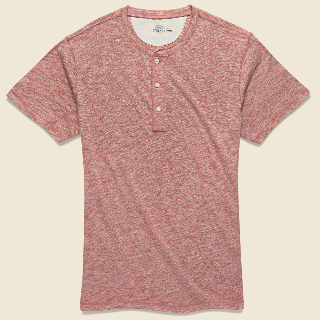 Faherty Heather Henley - Venice Red