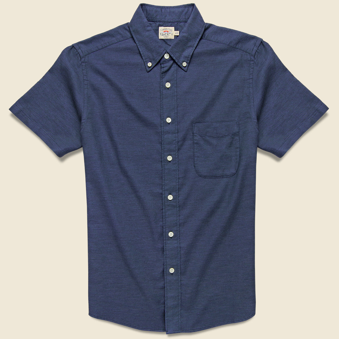 Faherty Stretch Oxford Shirt - Navy