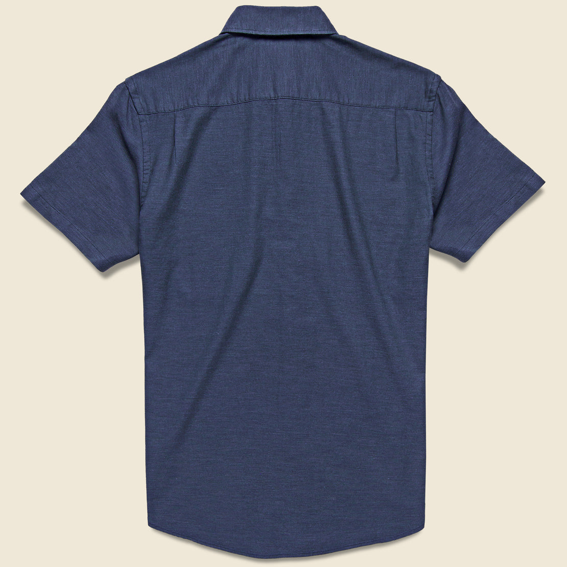 Stretch Oxford Shirt - Navy