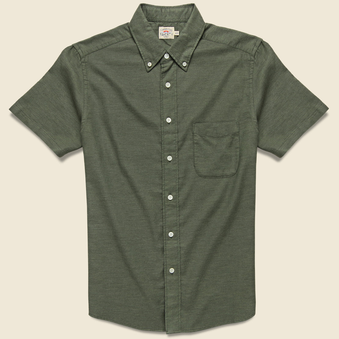 Faherty Stretch Oxford Shirt - Olive