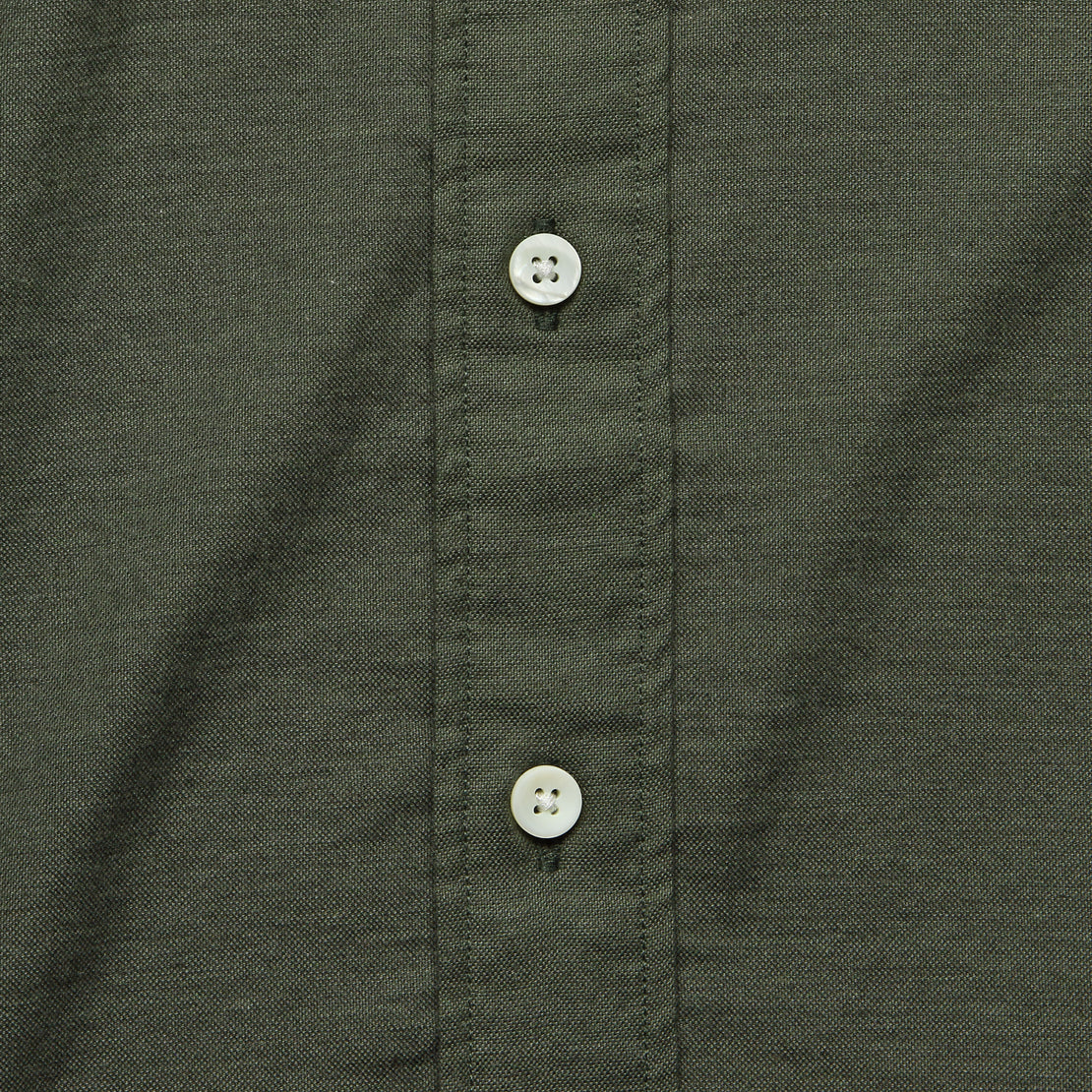 Stretch Oxford Shirt - Olive