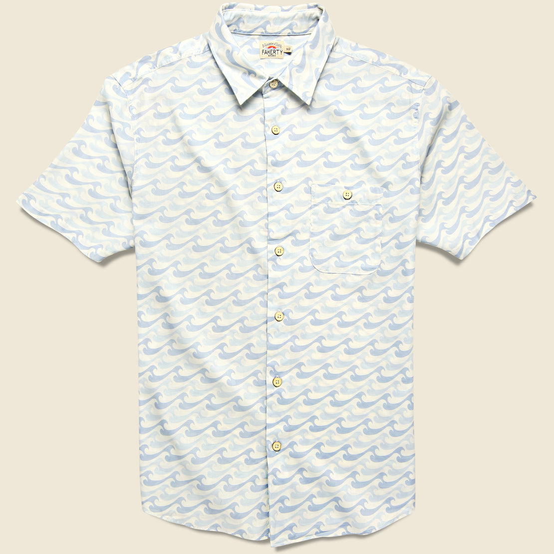 Faherty Playa Shirt - Ivory Endless Peaks