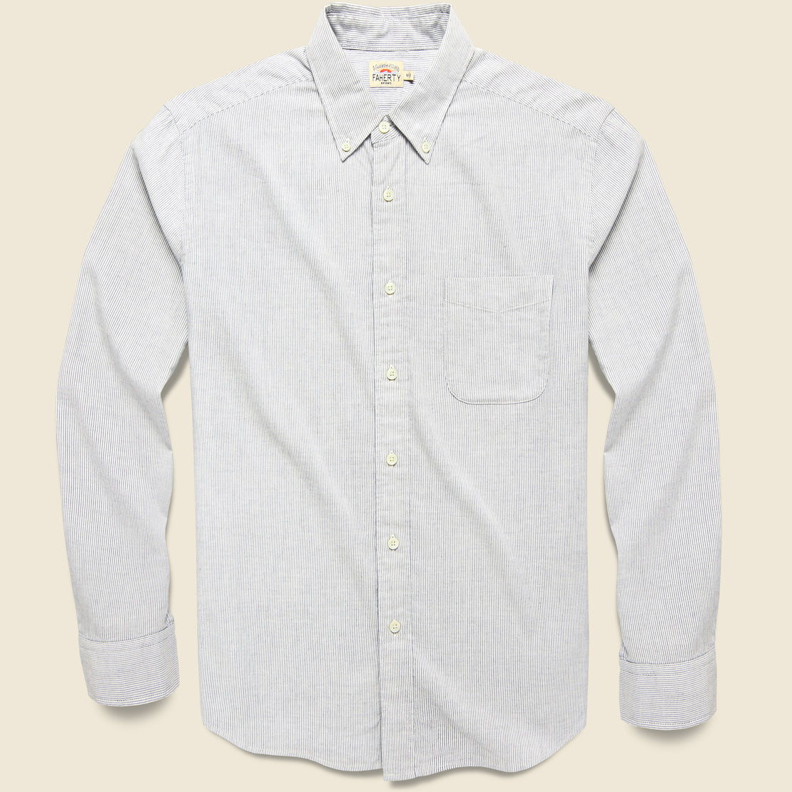 Faherty Stripe Stretch Oxford Shirt - Classic