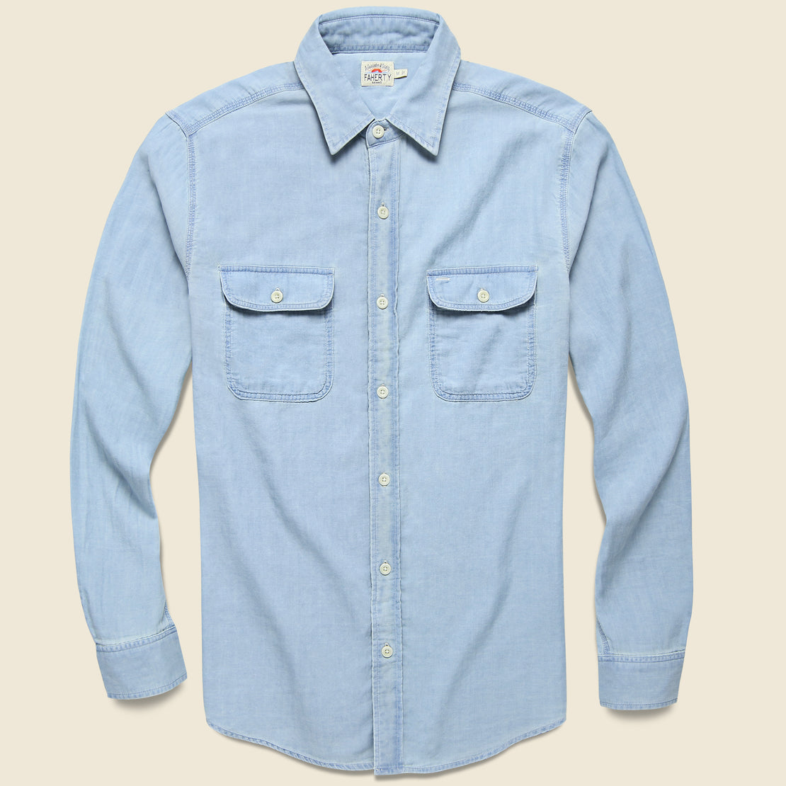 Faherty Penny Workshirt - Indigo Chambray