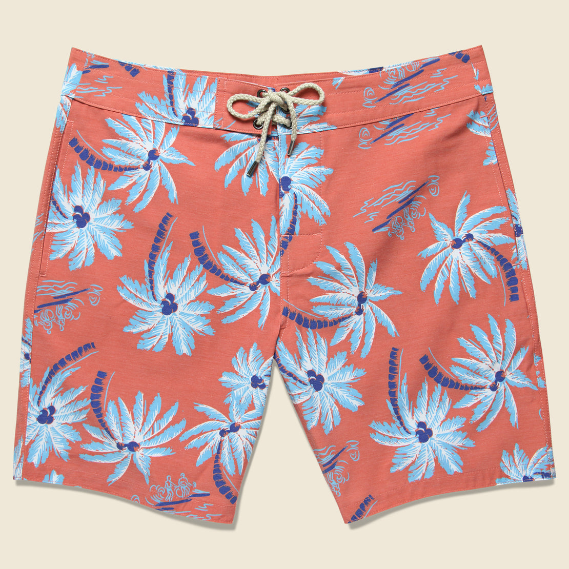 "Faherty Classic 7"" Boardshort - Red Palm"