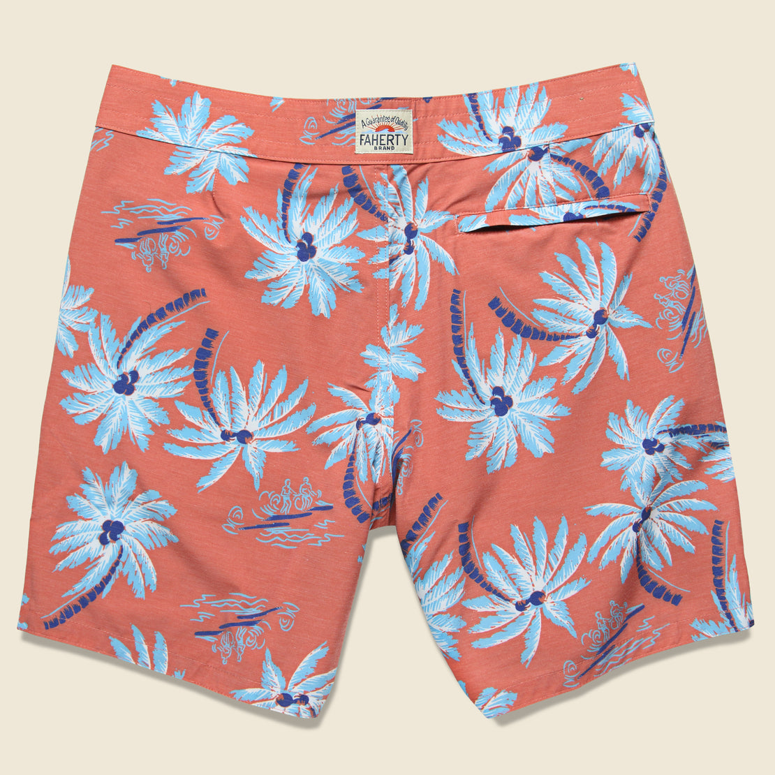 "Classic 7"" Boardshort - Red Palm"