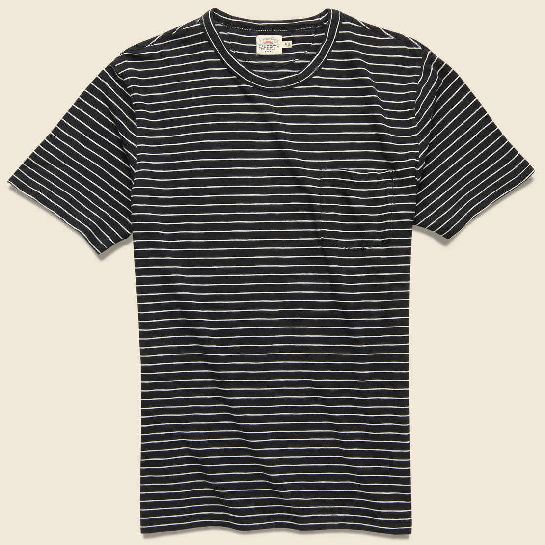 Faherty Indigo Pocket Tee - Black/White