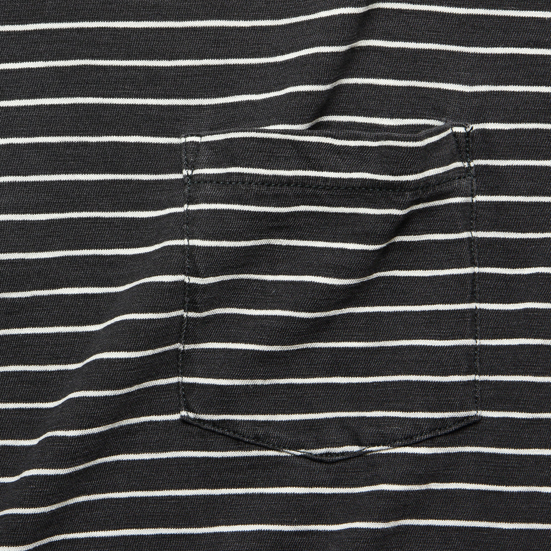 Indigo Pocket Tee - Black/White