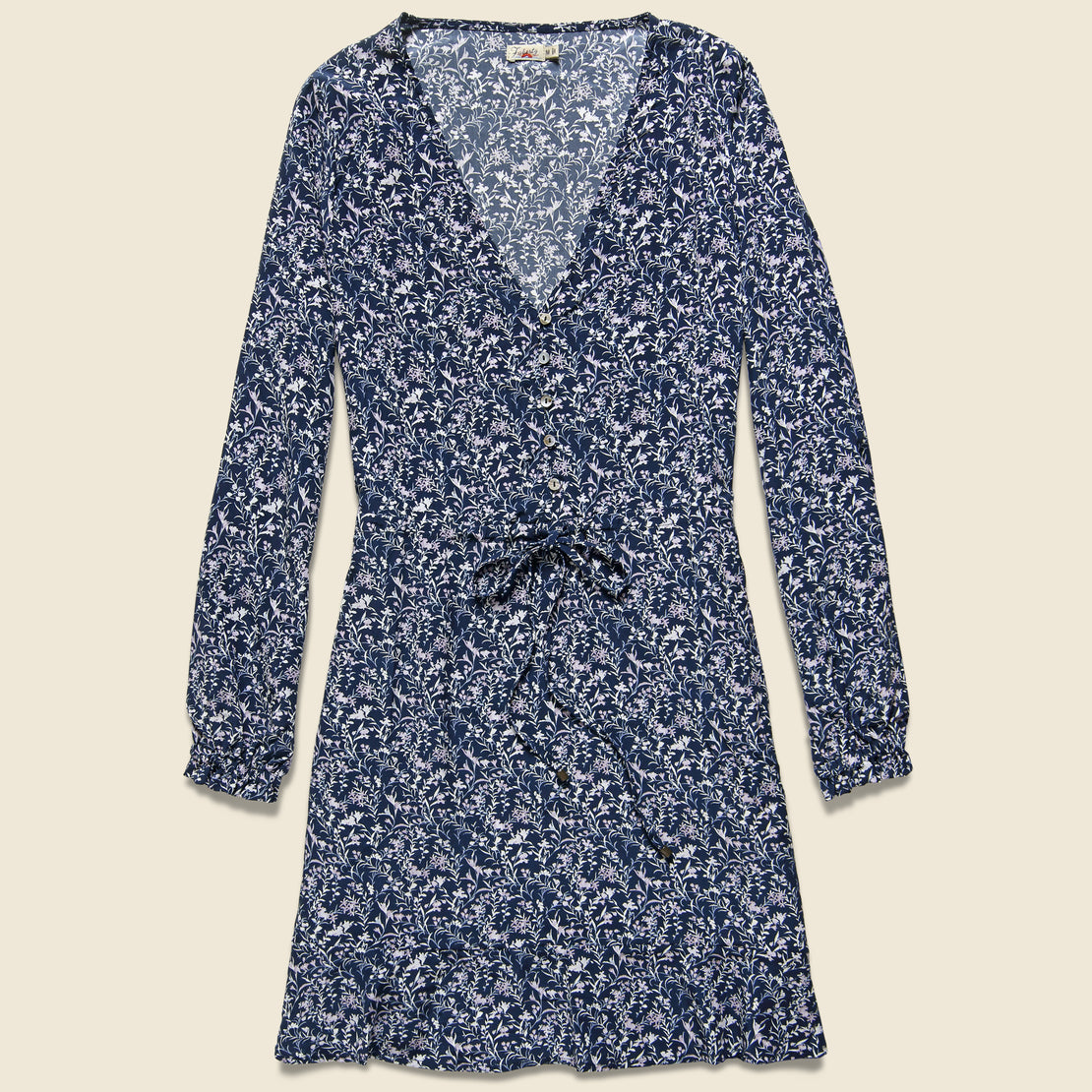 Faherty Kennedy Dress - Navy Bloom