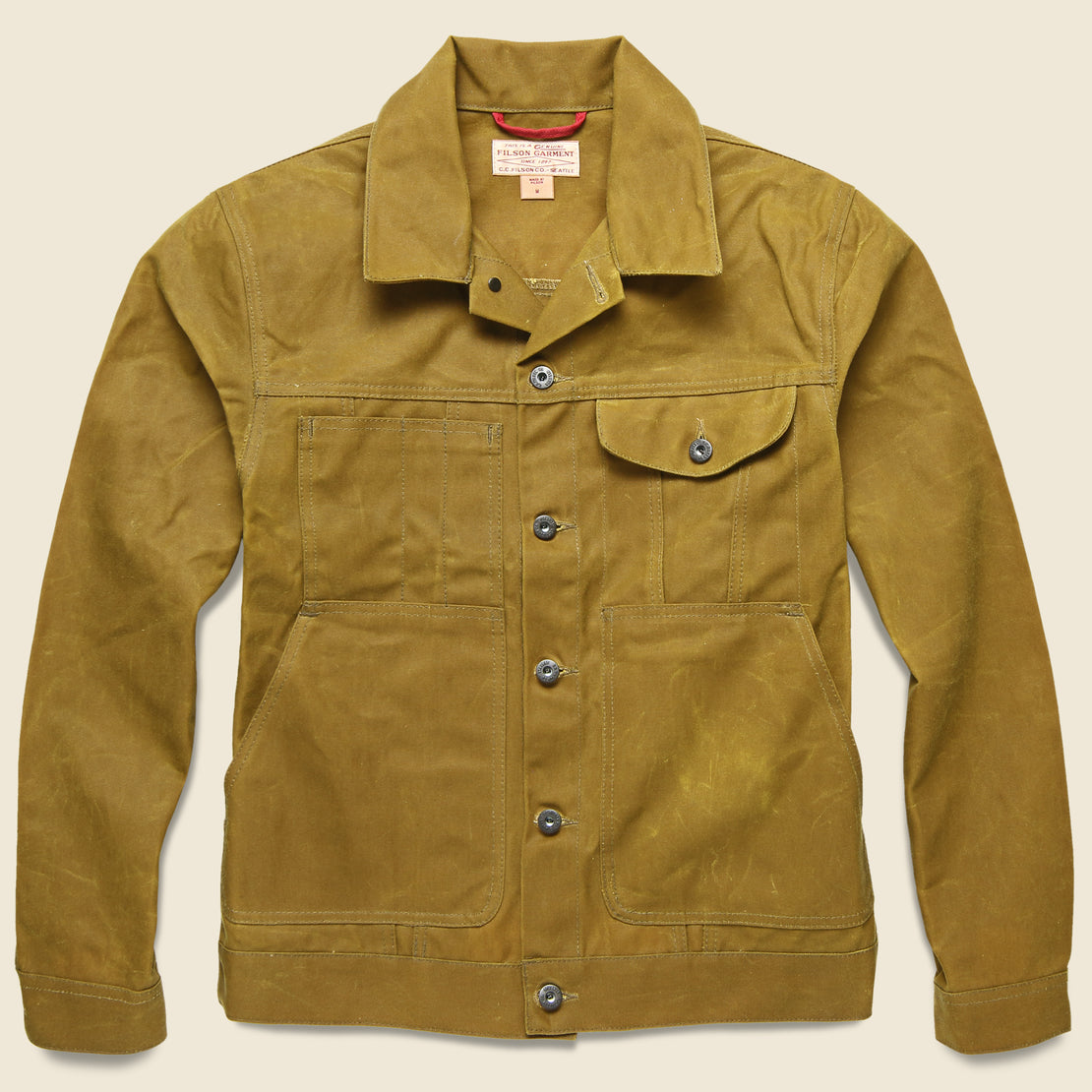 Filson Waxed Short Cruiser Jacket - Tan