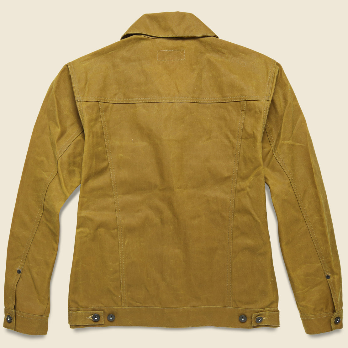Waxed Short Cruiser Jacket - Tan