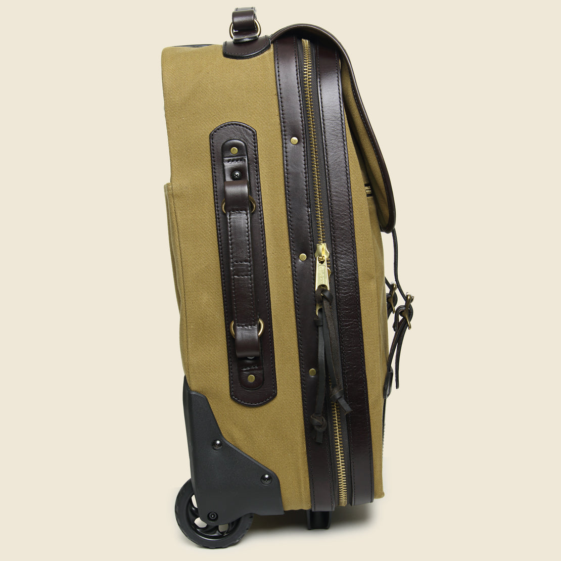 Rolling Carry-On Bag - Tan