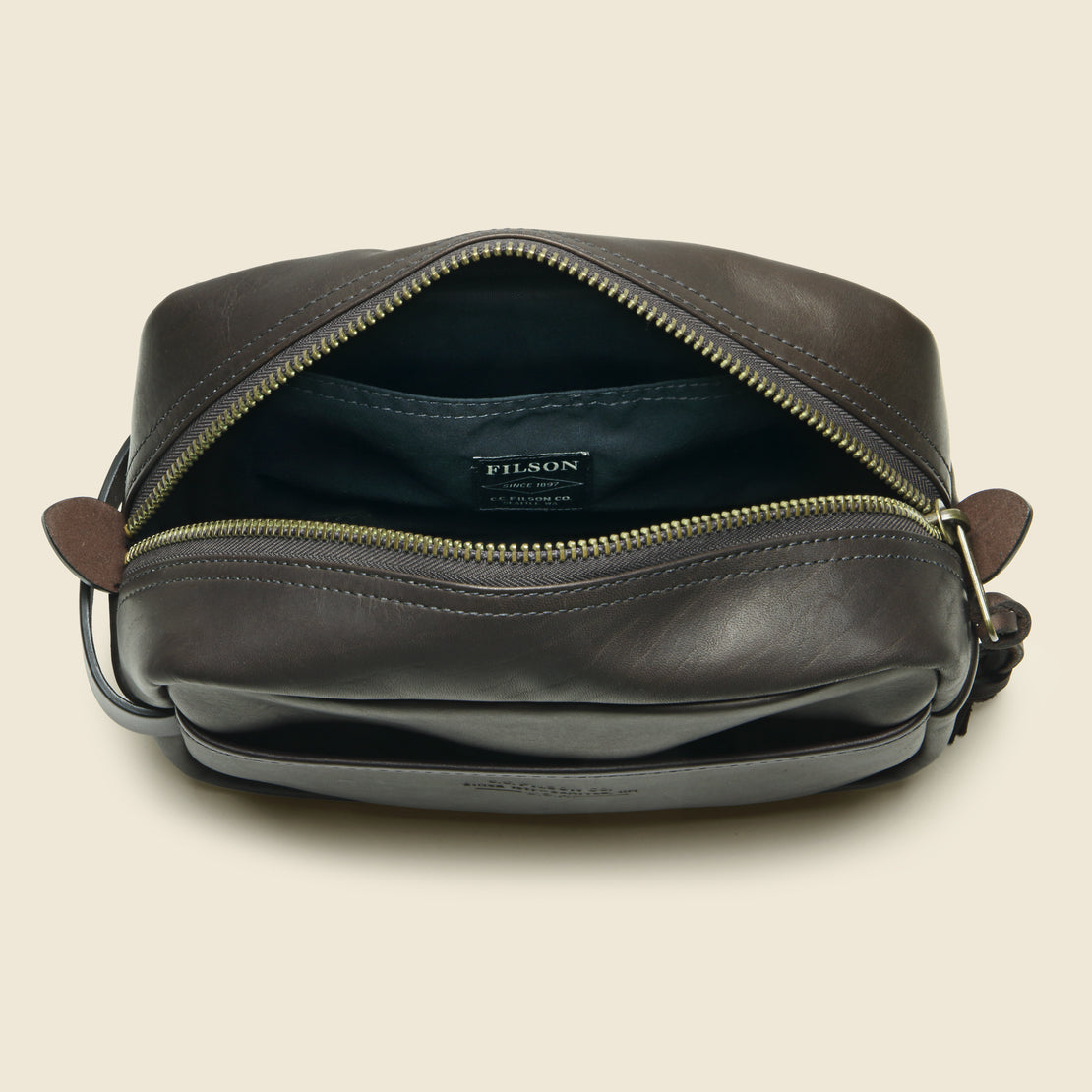 Weatherproof Leather Travel Kit - Sierra Brown