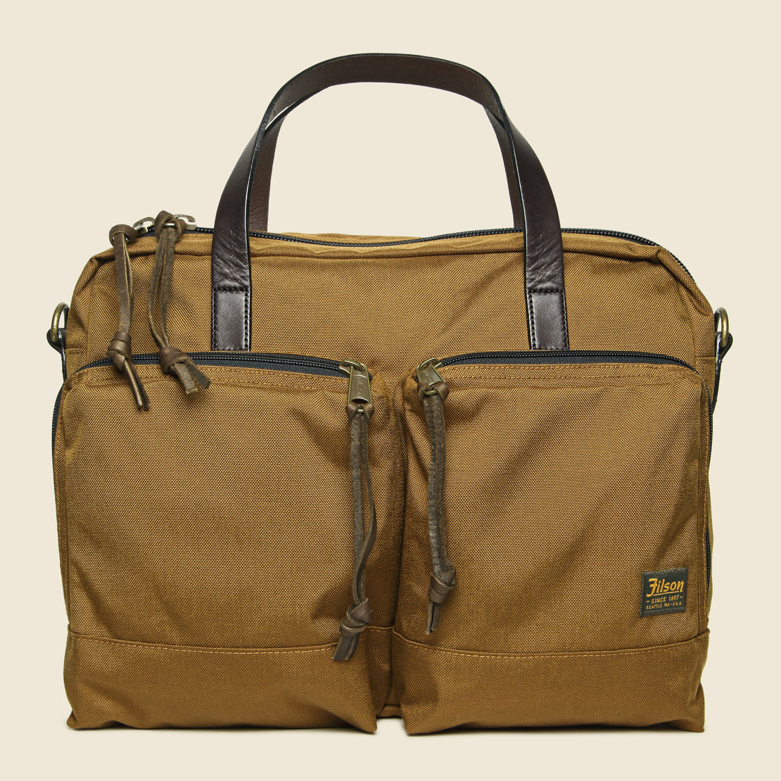 Filson Dryden Briefcase - Whiskey