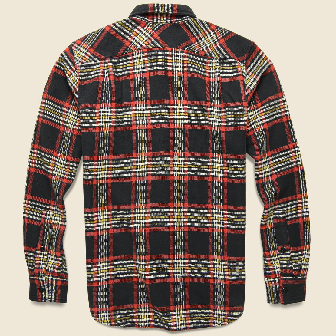 Vintage Flannel Workshirt - Black/Red/Gold