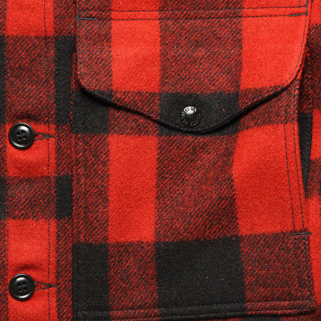 Mackinaw Wool Cruiser Jacket - Red/Black