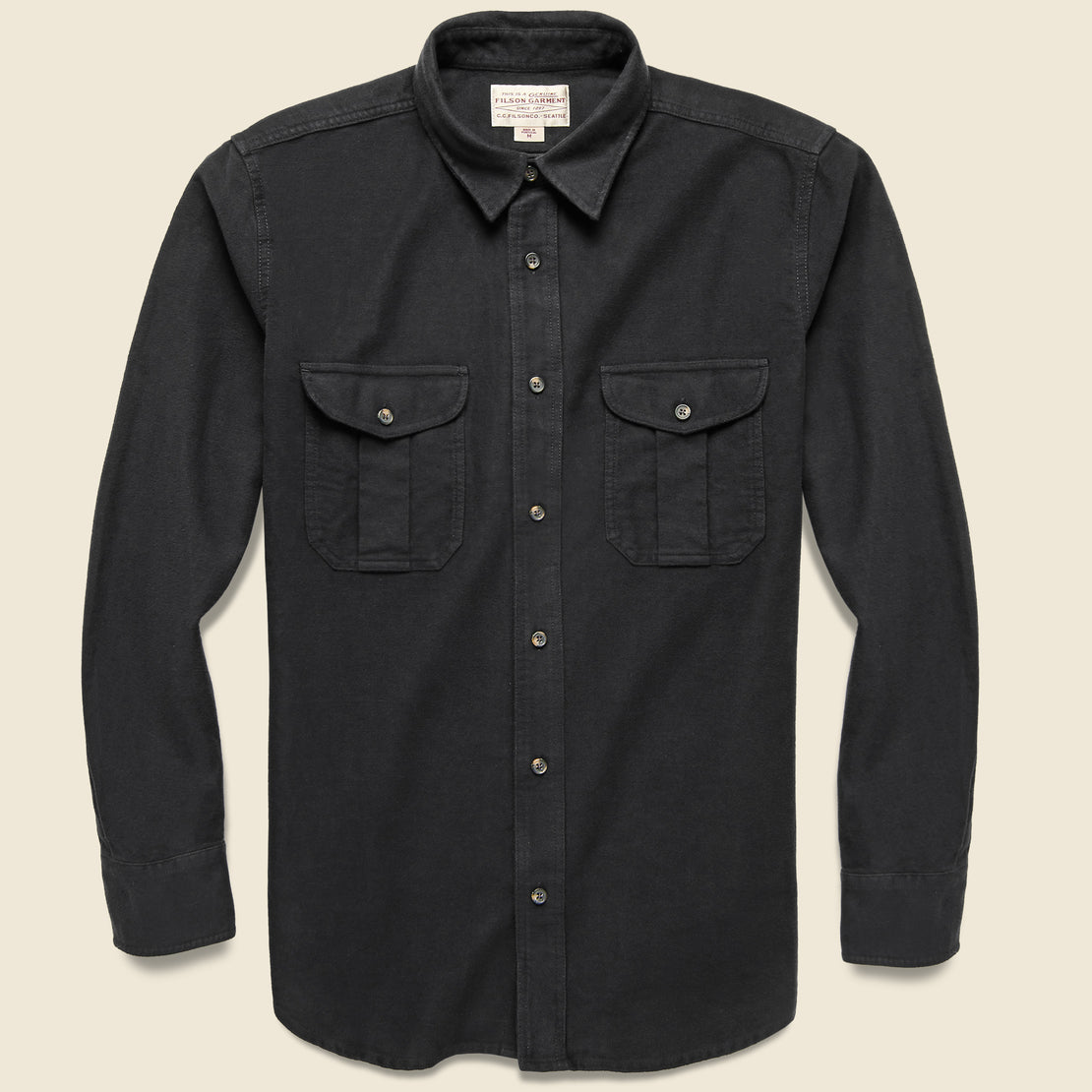 Filson Moleskin Seattle Shirt - Black