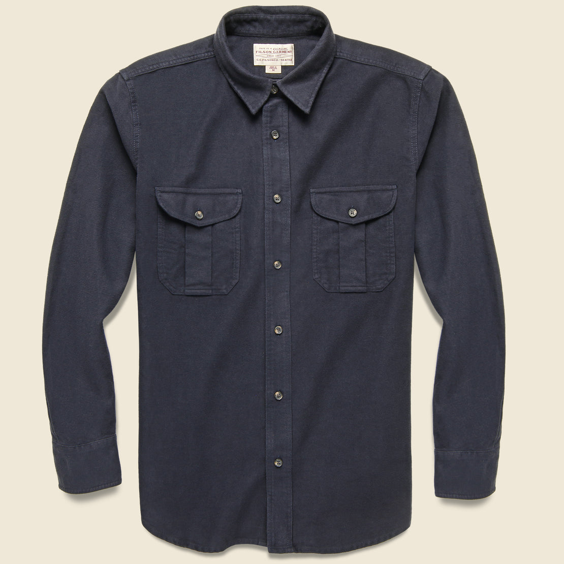 Filson Moleskin Seattle Shirt - Navy
