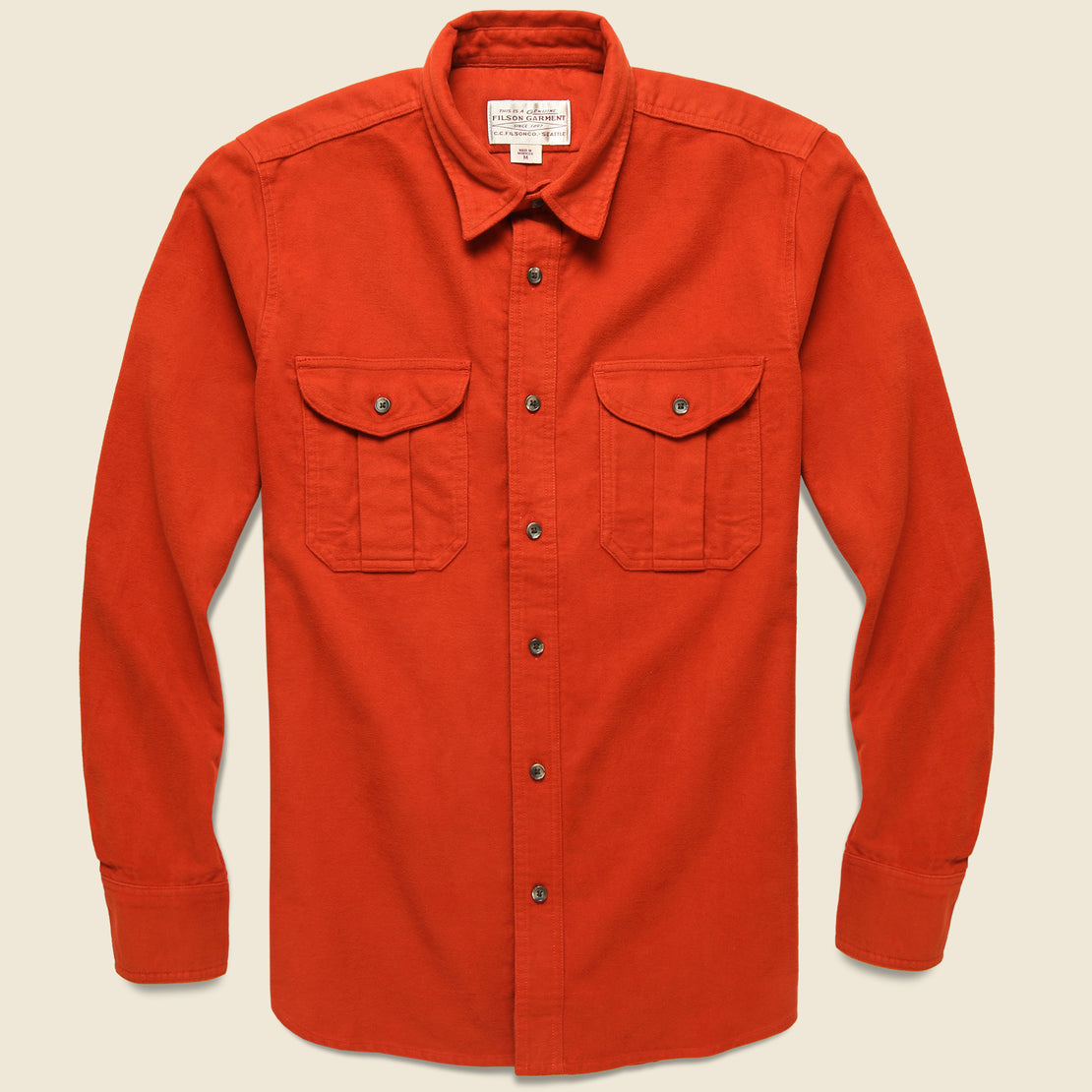 Filson Moleskin Seattle Shirt - Burnt Orange