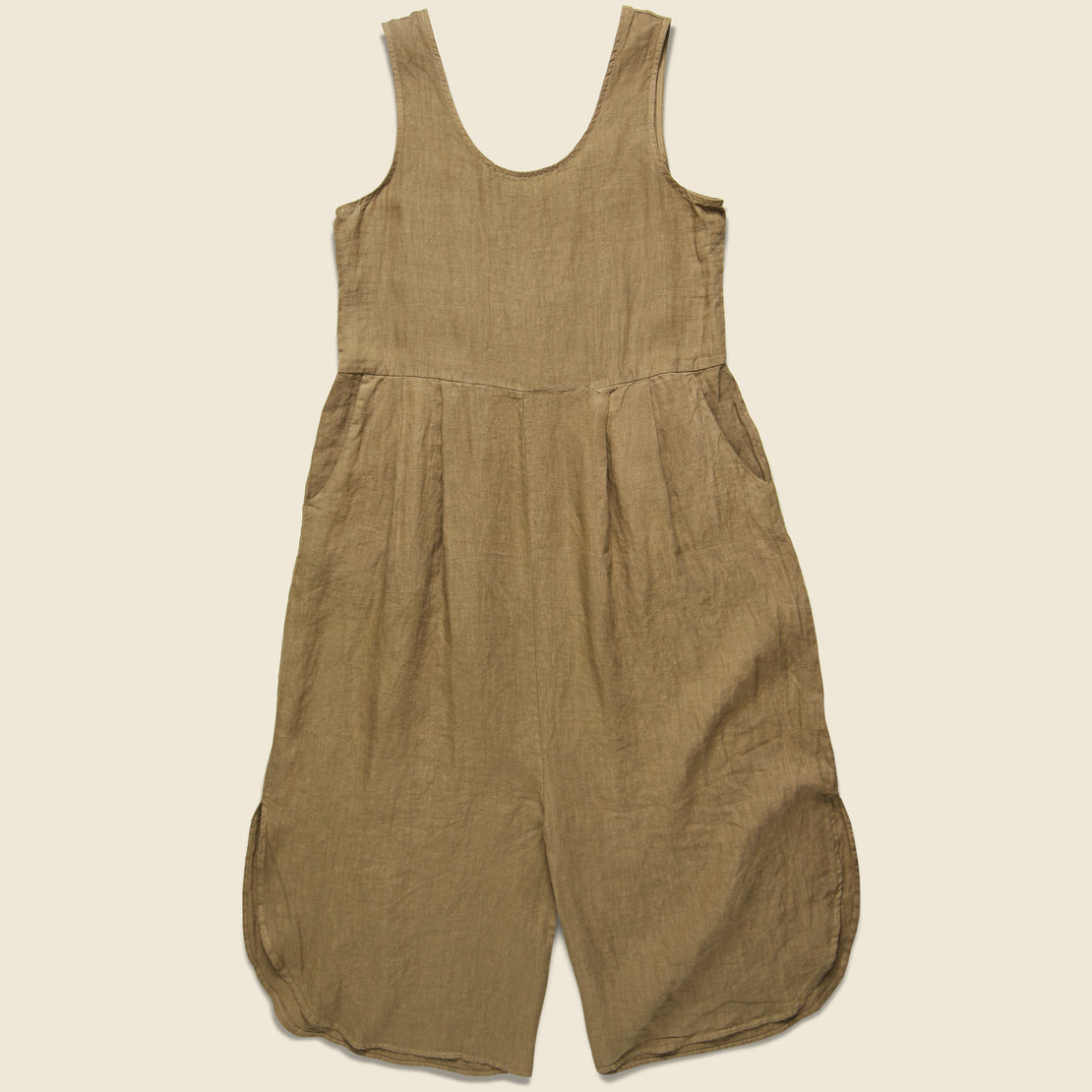 Filosofia Sam Linen Jumpsuit - Wheat