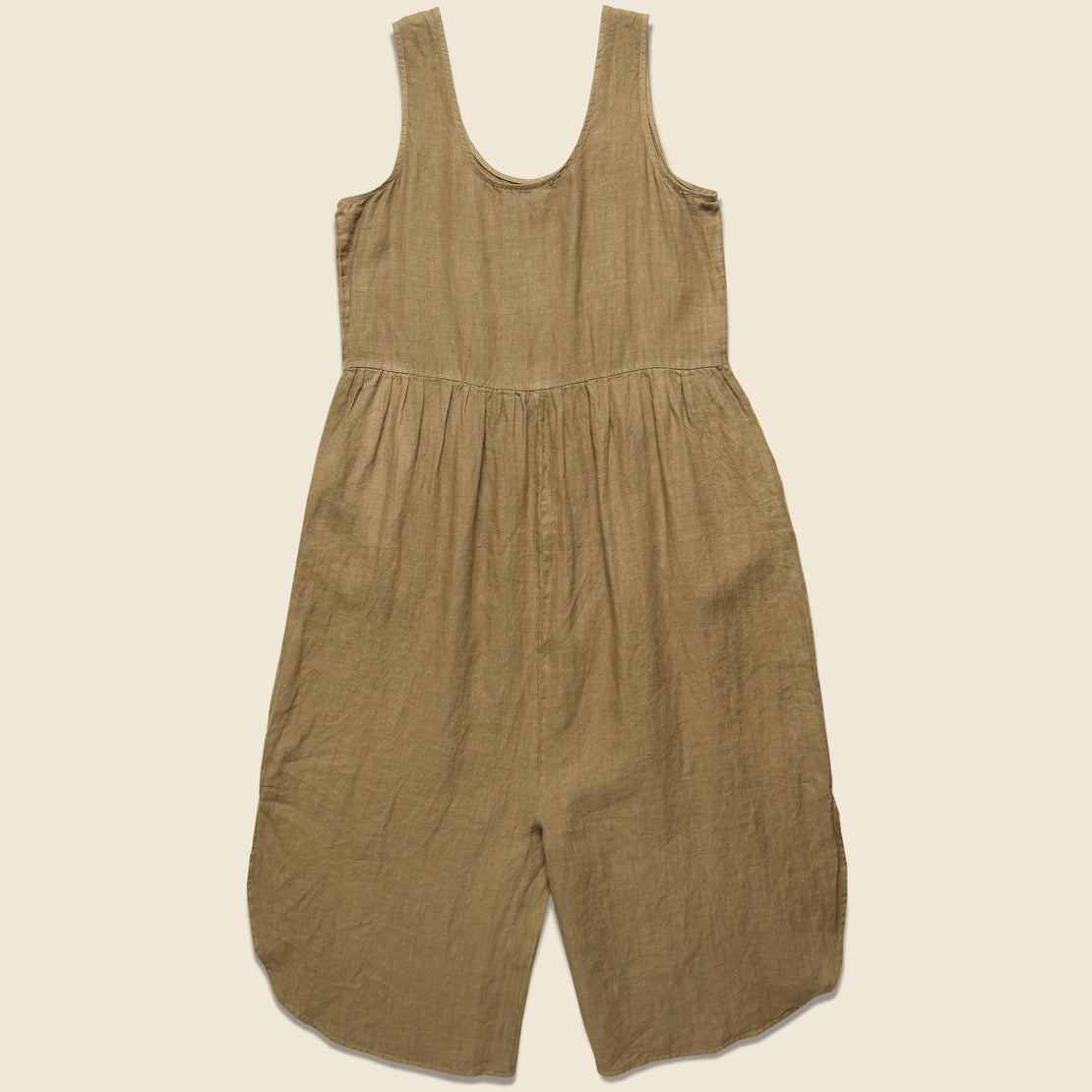 Sam Linen Jumpsuit - Wheat