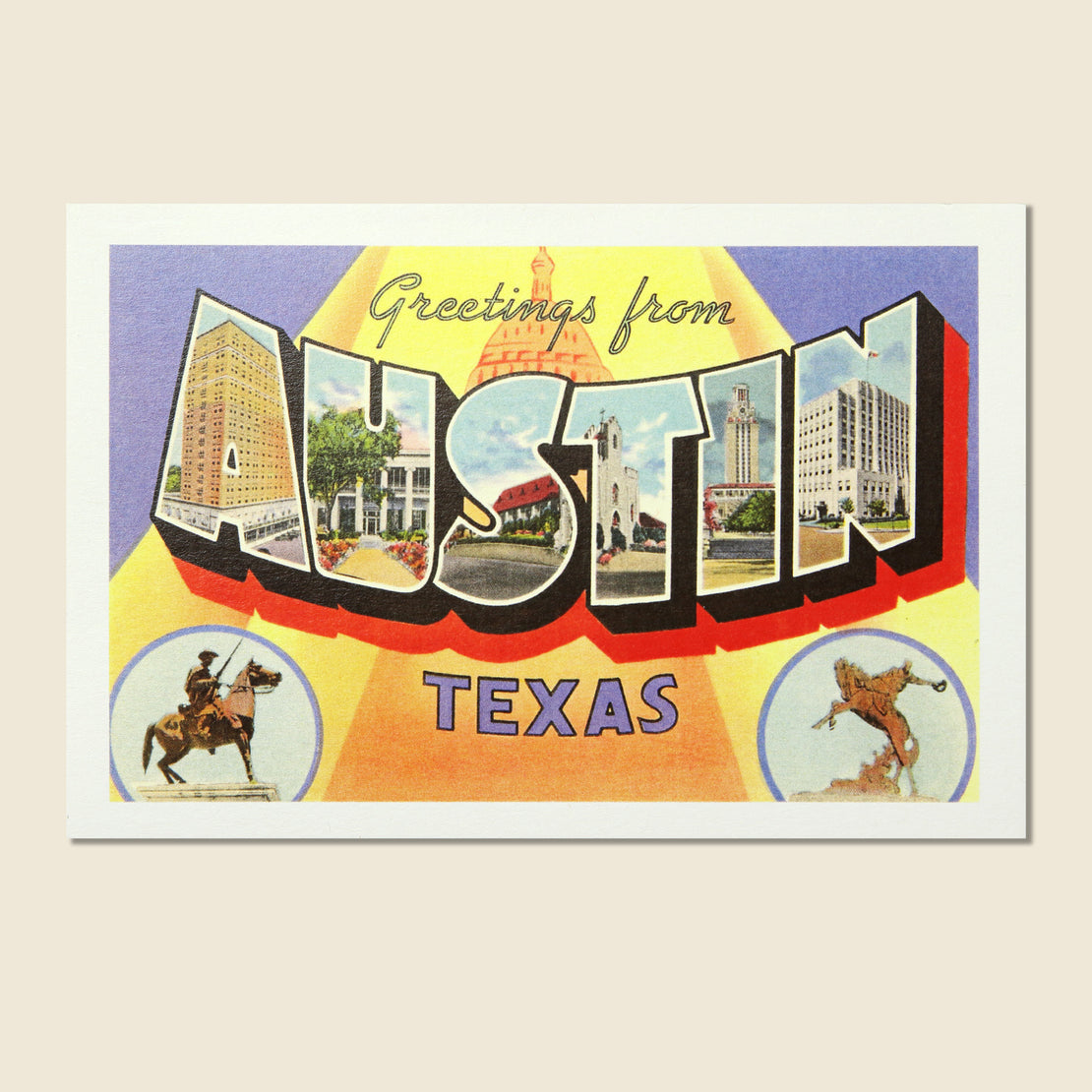 Paper Goods Postcard - Greetings from Austin