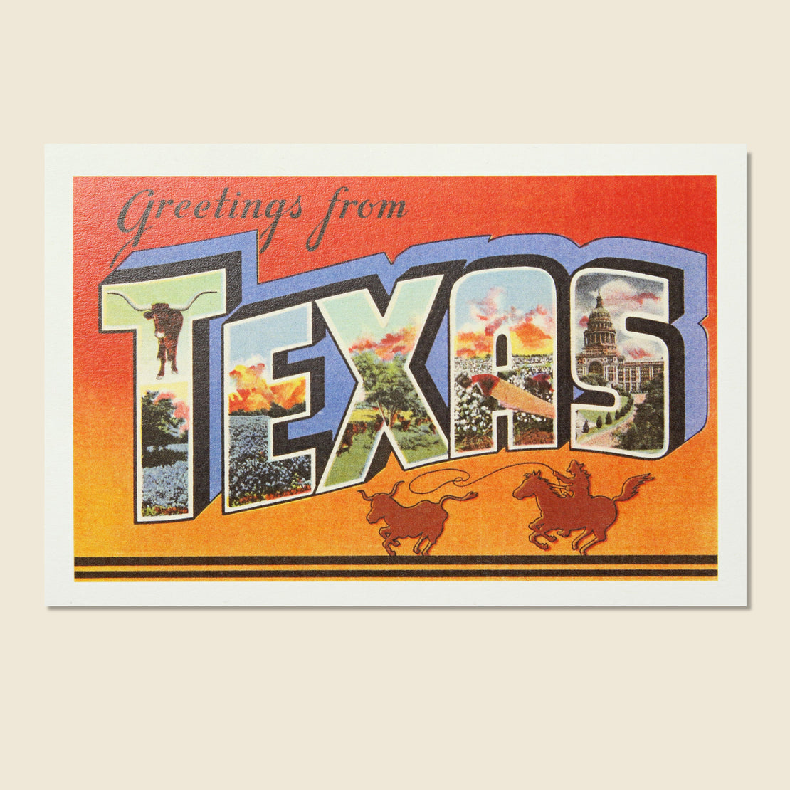 Found Image Postcard - Greetings from Texas