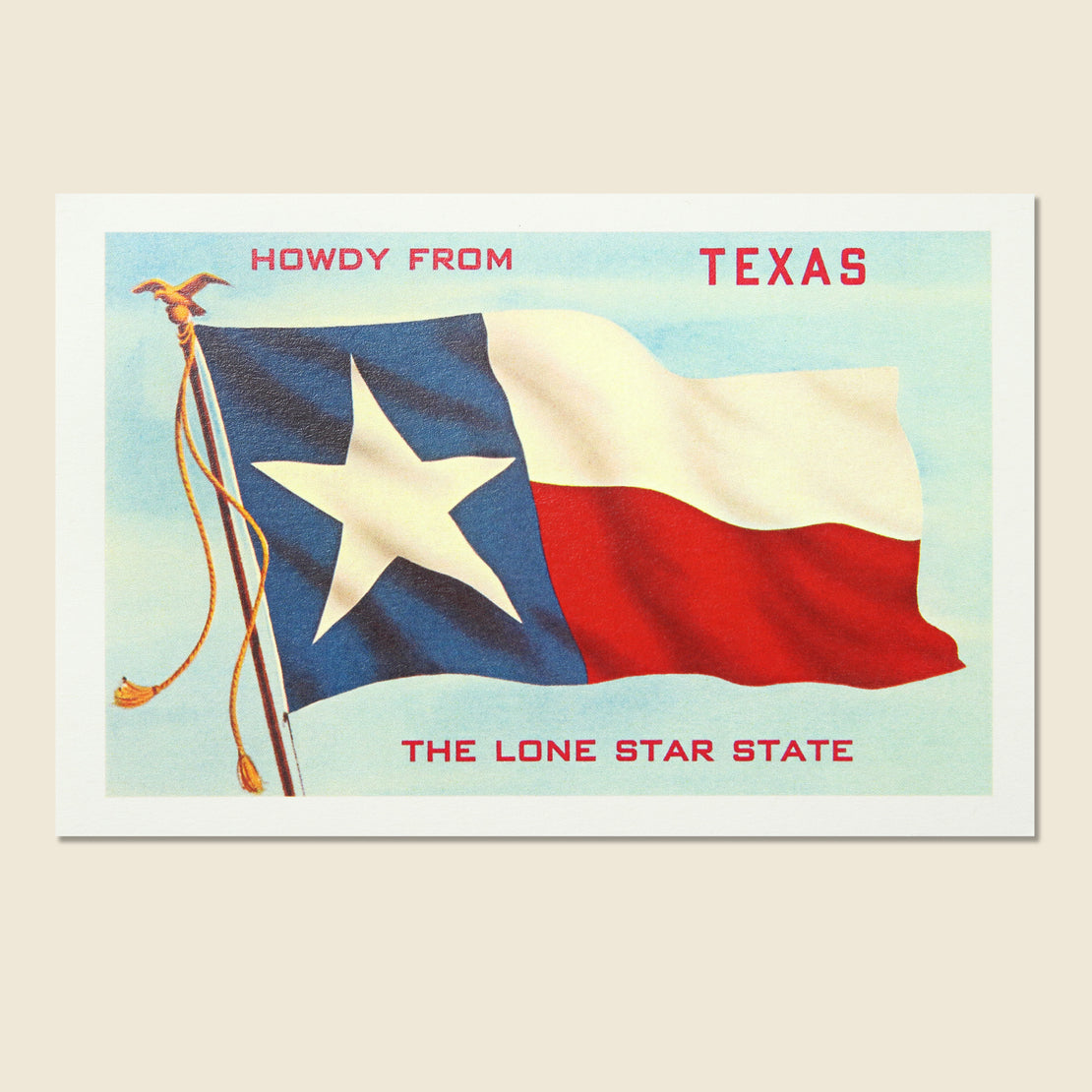 Found Image Postcard - Howdy Texas Flag
