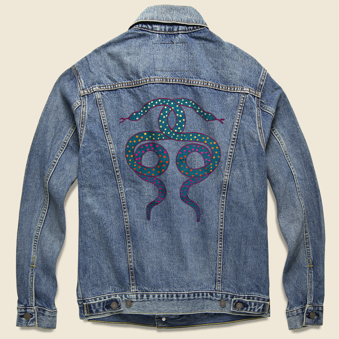 Fort Lonesome Levi's Trucker Jacket - United Snakes