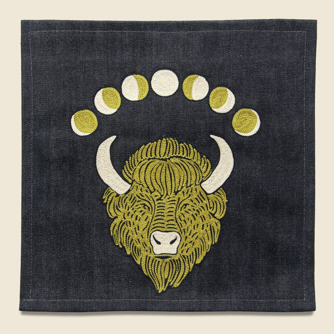 Fort Lonesome Large Direct Stitch Embroidery - Lunar Buffalo