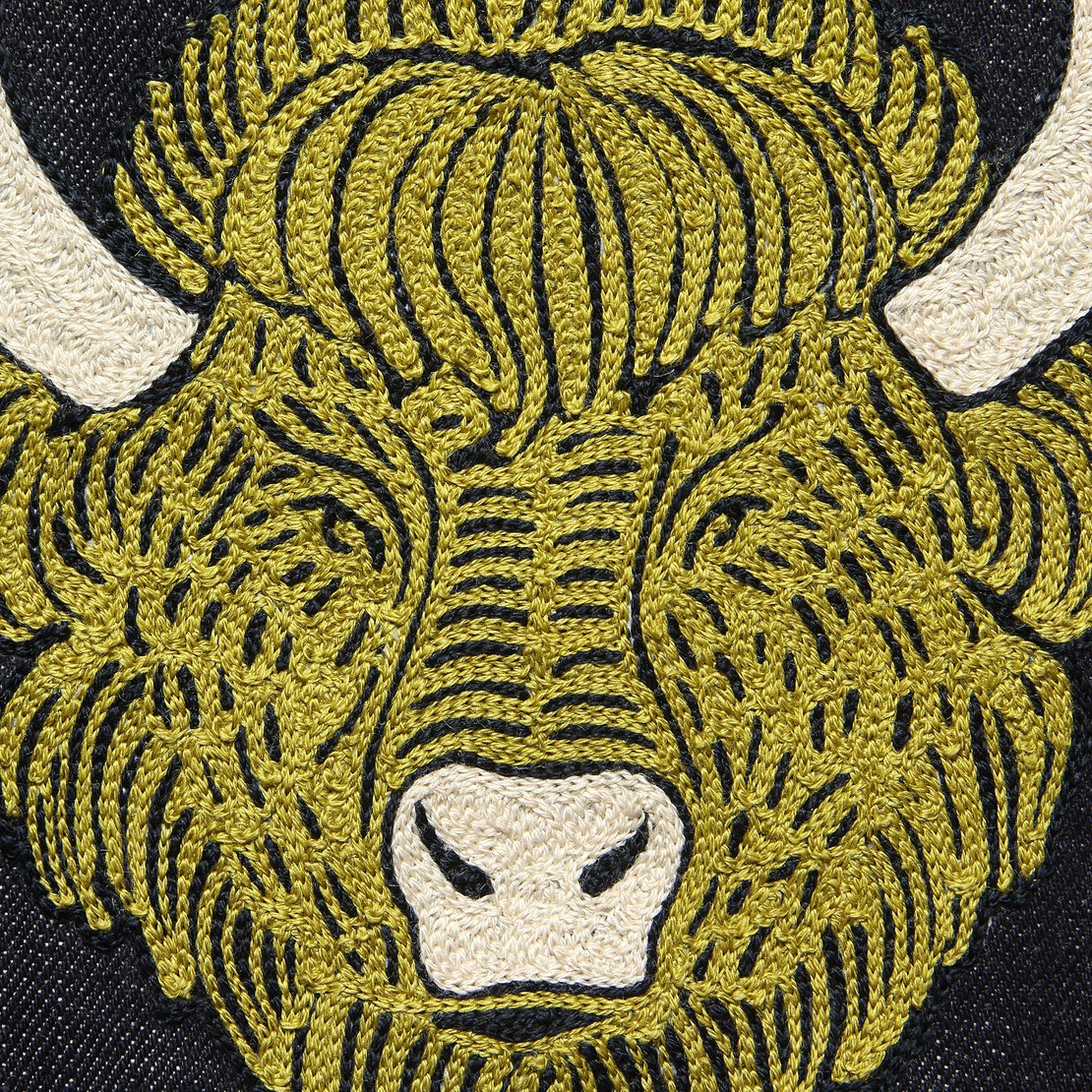 Large Direct Stitch Embroidery - Lunar Buffalo