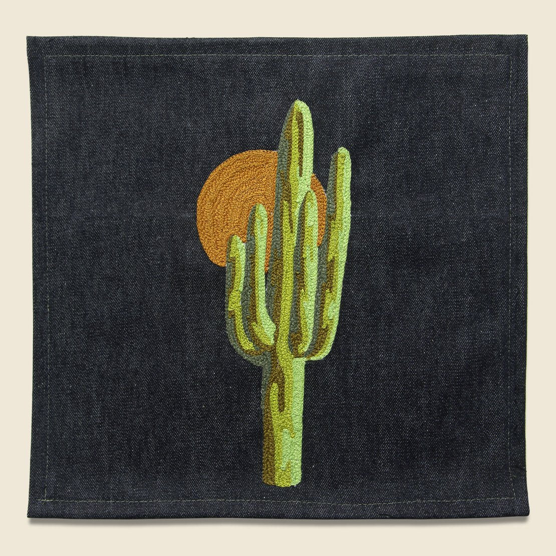 Fort Lonesome Large Direct Stitch Embroidery - Sunset Saguaro Cactus