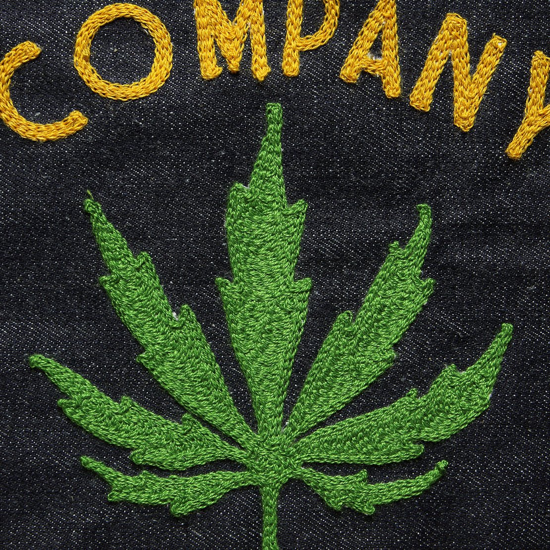 Custom Direct Stitch Embroidery - Weed Leaf