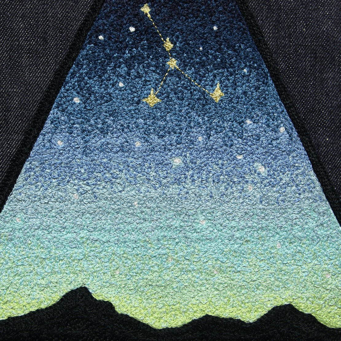 Large Direct Stitch Embroidery - Twilight Stargaze Constellation