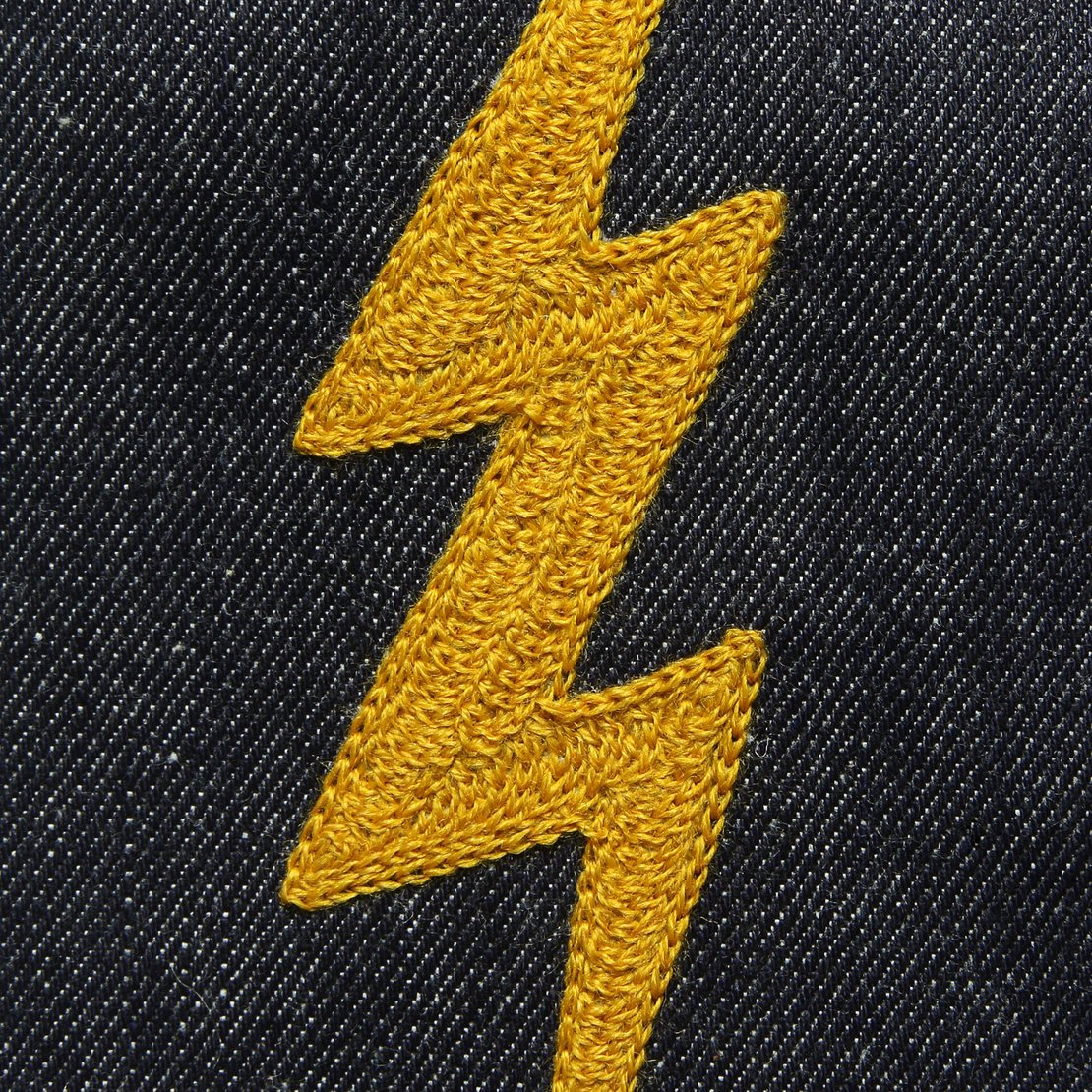 Custom Direct Stitch Embroidery - Lightning Bolt